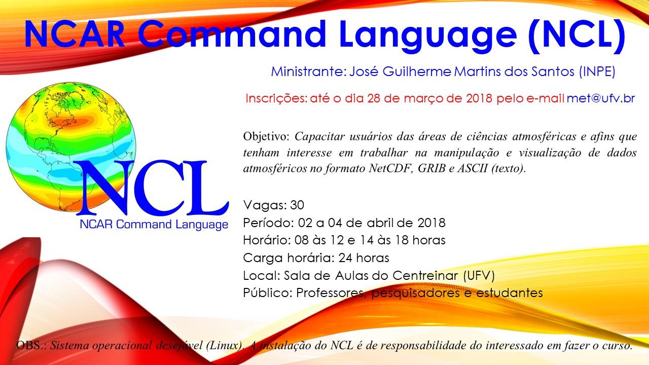 CURSO: NCAR Command Language (NCL) | Pós-Graduação Stricto